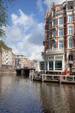 River Amstel in Amsterdam Stock Photo