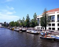 River Amstel, Amsterdam. Royalty Free Stock Photo