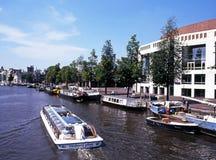 River Amstel, Amsterdam. Stock Image