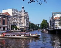 River Amstel, Amsterdam. Royalty Free Stock Photography