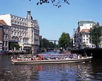 River Amstel, Amsterdam. Stock Image