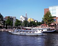 River Amstel, Amsterdam. Royalty Free Stock Images