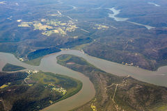 Free River And Mountain  Aerial View In  Australia Stock Image - 82058021