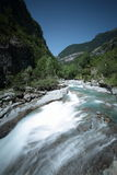 River ara. River made in the Aragonese Pyrenees, spainn Royalty Free Stock Photo