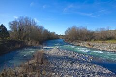 River Aragon North East Spain