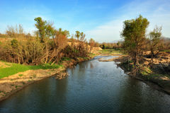 River in Arcadia, Greece. Landscape image of a river in Arcadia, southern Greece Royalty Free Stock Photography