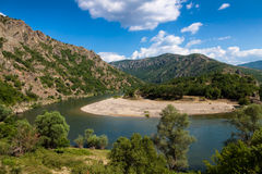River Arda. Picturesque meander of the river Arda in the Rhodope Mountains Stock Image