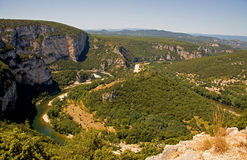 River Ardeche in France Stock Photos