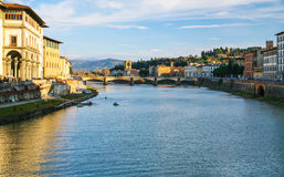 River Arno bridge Ponte alle Grazie in Florence Royalty Free Stock Image