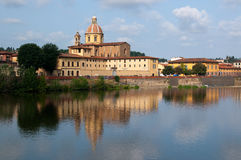 River Arno and church San Frediano in Cestello Stock Photography