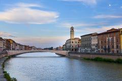 River Arno Florence Royaltyfria Bilder