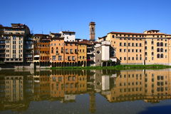 River Arno in Florence, Italy stock photography