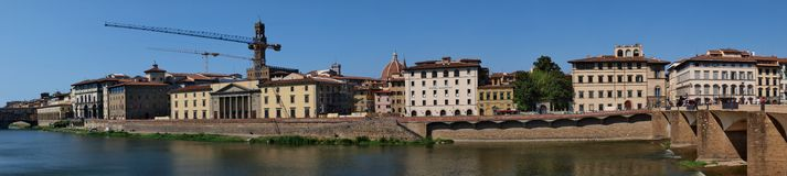 River Arno, Florence, Italy Stock Images