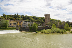 The river Arno in Florence, Italy. Stock Photo