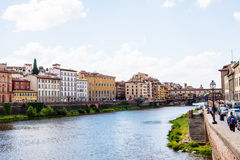 River arno. In florence, view to opposite coast Royalty Free Stock Photo