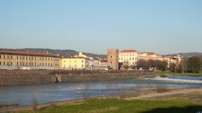 River Arno. Italy Florence. Tuscany stock video footage