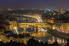 River Arno and Ponte Vecchio in Florence, Italy Royalty Free Stock Images
