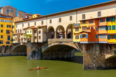 River Arno and Ponte Vecchio, Florence, Italy Stock Photo