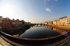 River Arno (wide angle) Royalty Free Stock Photography
