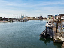 River Arun Littlehampton. The River Arun at Littlehampton, West Sussex England stock photos