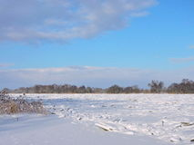 River Atmata in winter ice Royalty Free Stock Image