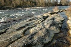 River Aude in Occitanie, France Stock Image