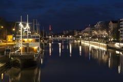 River Aura in Turku Stock Image