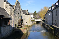 River Aure at Bayeux in France Royalty Free Stock Image