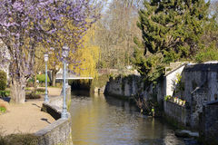 River Aure at Bayeux in France Royalty Free Stock Photo