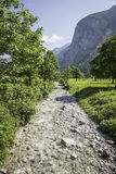 River in Austrian Alps Stock Photo