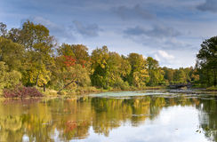 River in autumn day Royalty Free Stock Photography