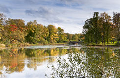 River in autumn day Stock Image