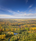 River in autumn forest Royalty Free Stock Photography