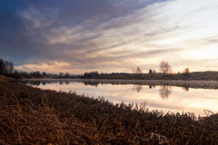 River On The Autumn Morning Stock Image