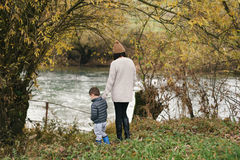 By the river in autumn Royalty Free Stock Photos