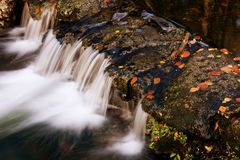 River in Autumn. Season at Geres National Park, Portugal royalty free stock image