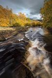 Golder River. A river in autumnal golden light Stock Photos