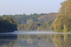 River at autumnal morning Royalty Free Stock Image