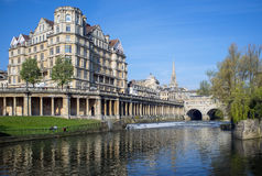 River Avon. Running through the historic city of Bath in Somerset, United Kingdom Stock Photo