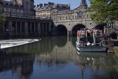 River Avon in Bath City Centre. Somerset Stock Image