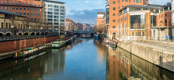 River avon in Bristol, as seen from Valentine bridge Royalty Free Stock Photos