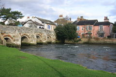 River Avon Christchurch. River Avon running through Christchurch, Dorset, England, United Kingdom Stock Photo