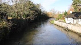 River Avon Christchurch Dorset England UK stock footage