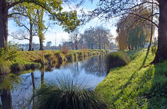 River Avon & Hagley Park in Winter, Christchurch stock images