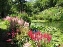 River Avon, Malmesbury Abbey Garden, Wiltshire, England, Europe Stock Photography