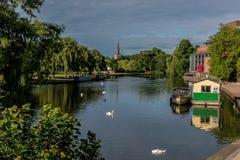 River Avon and Theatre Stock Photo