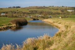 River Axe Somerset England Stock Photography