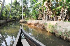 River of the backwaters at Kollam Royalty Free Stock Photography