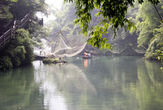 River in bamboo forest Royalty Free Stock Photo