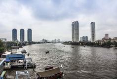 The river of Bangkok Stock Image